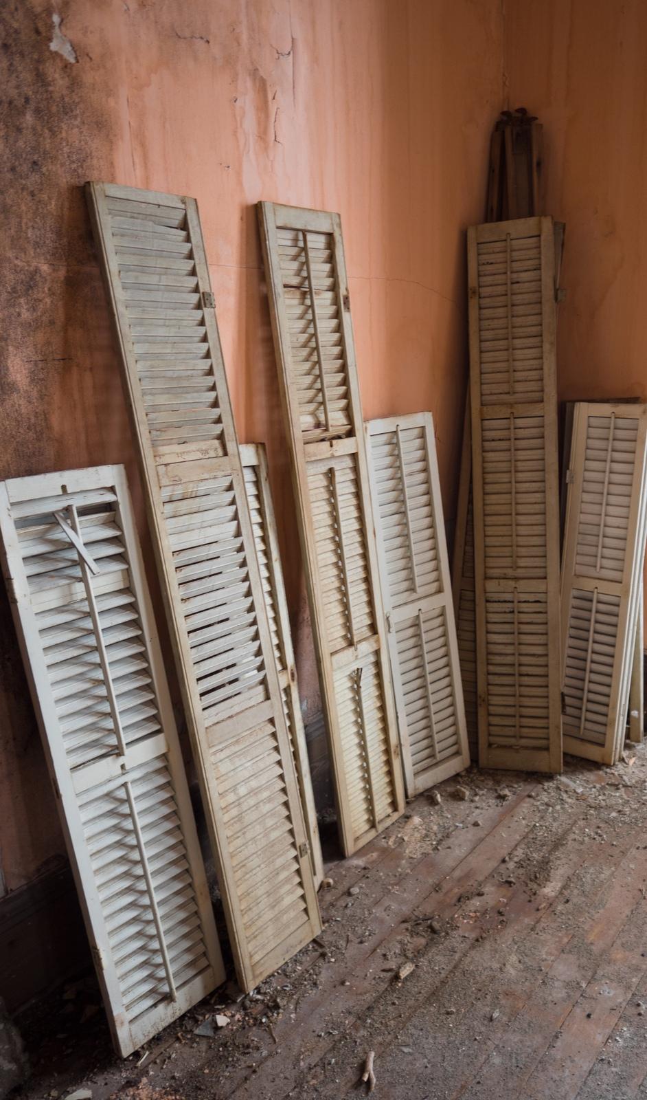 Indoor shutters.