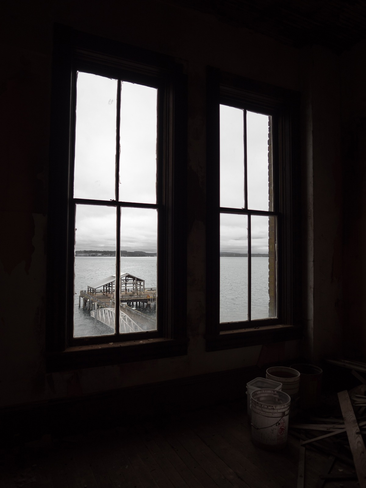 View out a back window.