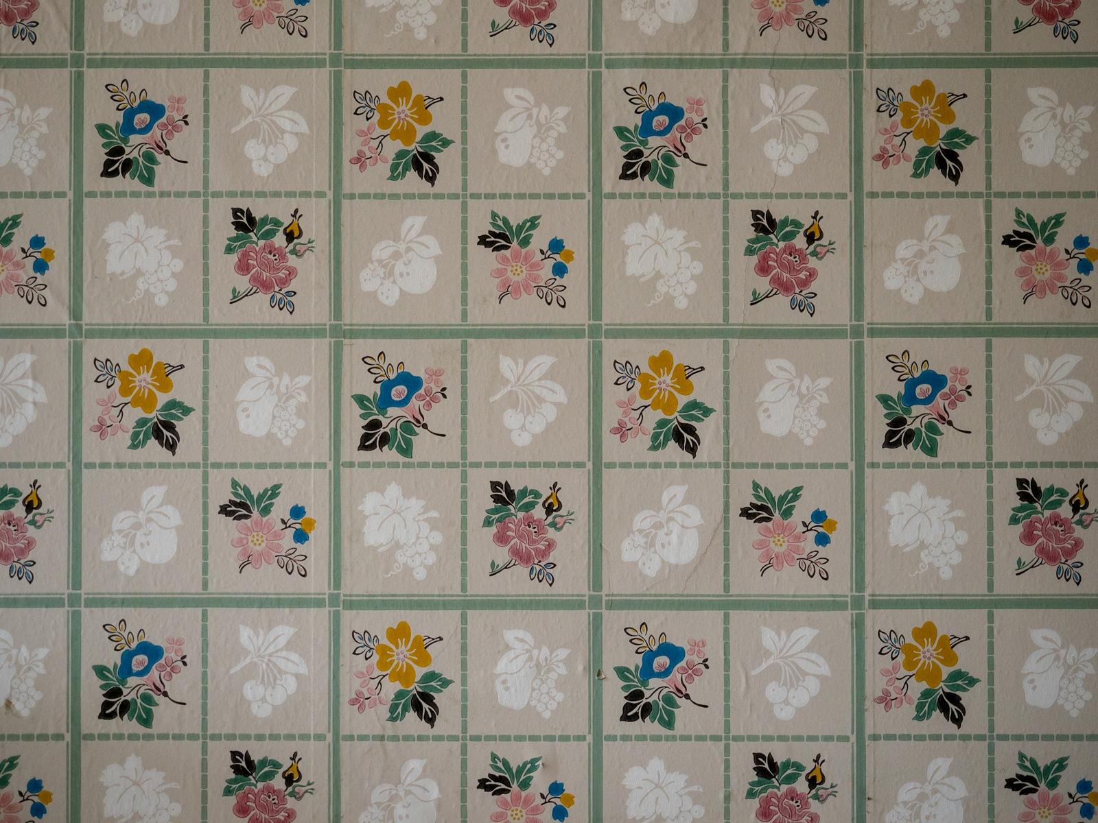 Wallpaper close up.