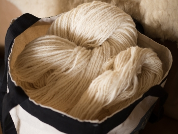 Skeins in a bag. Plan to make a sweater.