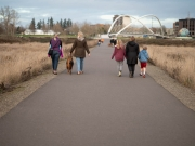 leaving the taco bridge, daughters and granddaughters and one grandson